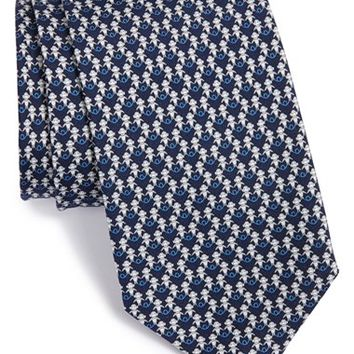 Men's Salvatore Ferragamo Monkey Print Silk Tie