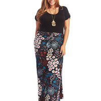 Super Soft Daisy Print Maxi Skirt | Wet Seal