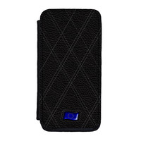 Stylish Black Leather Flag of European Union - Europe - EU Flag Premium Faux PU Leather Case for iPhone 5C by World Flags