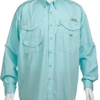 Columbia Men's Bonehead Long Sleeve Shirt, Gulf Stream, X-Large