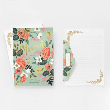 Mint Birch Monarch Notepad