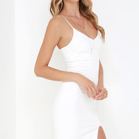 Beautifully Bold Ivory Bodycon Dress