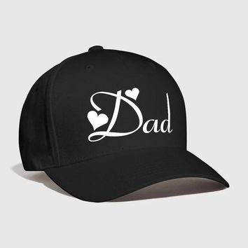 Sports Hat Cap trendy  Love Dad Embroidered Customized Handmade Father's day Gift Idea Present Shop design Personallize Outdoor Sports Curved Daddy hat KO_16_1