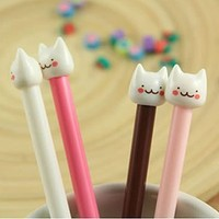 White Cat Pen (4 Colours) - Kawaii Kids