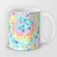 Rainbow Cubes & Diamonds Mug by Micklyn