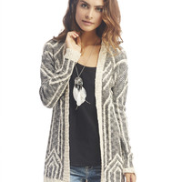 Two-Tone Knit Cardi | Wet Seal