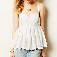 Pavlova Peplum Top by HD in Paris White