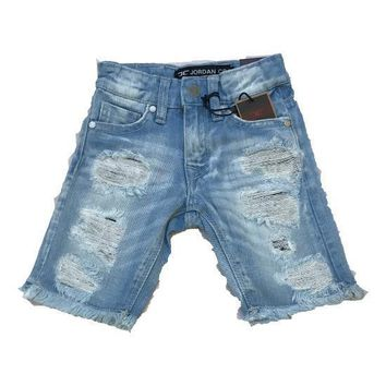 Jordan Craig - Toddlers - Shredded Denim Shorts