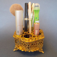 Ornate Gold Filigree Vanity Lipstick Holder by TheElusiveFox