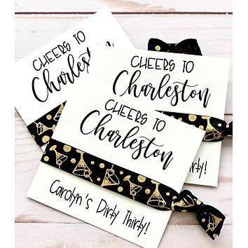 Cheers to Charleston! | Hair Tie Party Favor | Bachelorette Party Favor | Birthday Party Favor