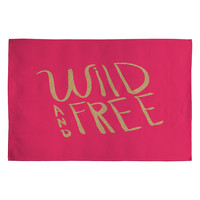 Allyson Johnson Wild and free glitter Woven Rug
