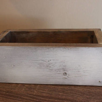 WALL PLANTER BOX - Wooden plant box - Farmhouse - Barn Style - Shabby Chic - Rustic - Herbs