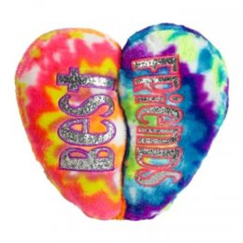 Tie Dye BFF Heart Pillow | Sleeping Bags & Pillows | Room Decor | Shop Justice