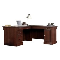 Sauder Palladia L-Shaped Desk - Select Cherry | www.hayneedle.com