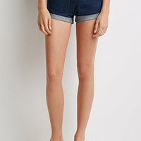 Mineral Wash Cuffed Denim Shorts