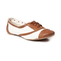 Womens Not Rated Borderline Flats, Tan  Journeys Shoes