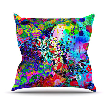 "Ebi Emporium ""Jungle Fever"" Multicolor Throw Pillow"