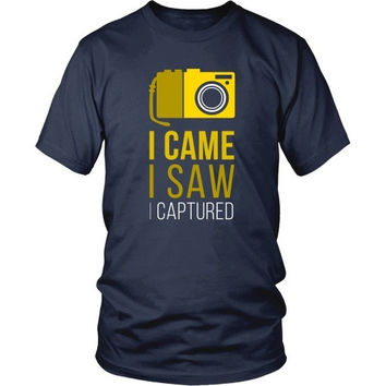 Photography T Shirt - I Came I Saw I Captured