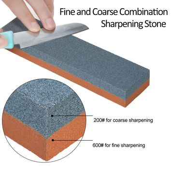 Knife Sharpening Stone 200/600 Grit Coarse/Fine Combination Double Side Whetstone Grindstone for Knives 200*50*25mm