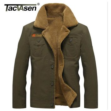 TACVASEN Military Tactical Jacket Men Winter Thermal Cotton Jacket Coat Army Pilot Jackets Men's Air Force Parkas TD-QZQQ-006