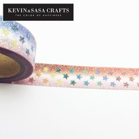 Washi Tape Glitter Star Diy Stationery Decorative Scotch Tape Scrapbooking Photo Album School Tools Kawaii Scrapbook Paper