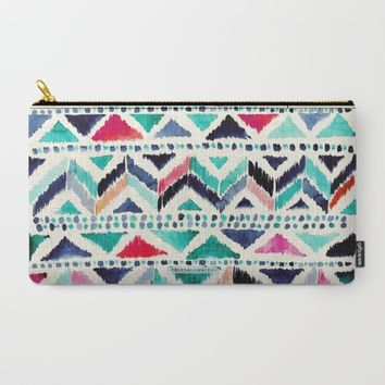 Celestial Tribal Stripe Carry-All Pouch by CRYSTAL ▽ WALEN