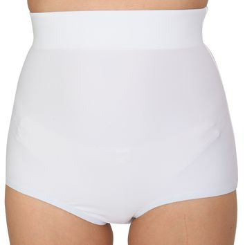 White Matte Color High Waist Shorts