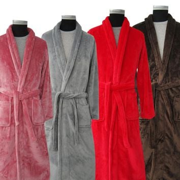 Silk Flannel Long Bath Robe