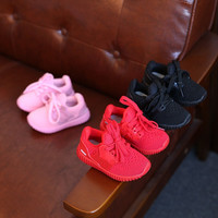 High Quality Kids Boys Girls Running Sneakers 2016 Breathable Air Mesh Fashion Brand Footwear Children Boy Girl Sports Shoes