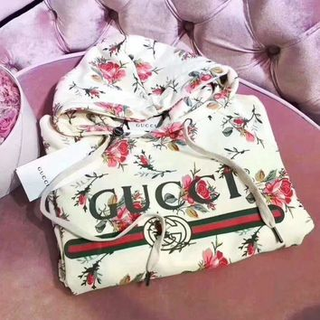 LMFUF3 'Gucci'' Women Pattern Print Floral Hot Hoodie Cute Sweater
