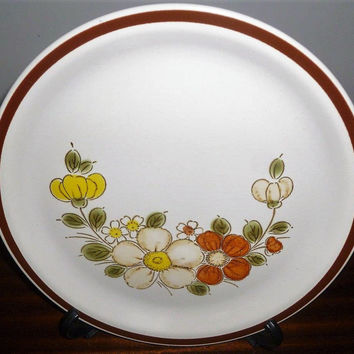 "Vintage 1970s The Woodhaven Collection Stoneware Plate ""Sunnybrook"" / Retro Collectible Japanese Plate / Oven to Table / Platter"