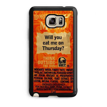 taco bell sauce fire mild samsung galaxy note 5 note edge cases
