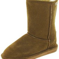 Bearpaw Emma Short 608 8 Inch Womens Boots Sheepskin Suede