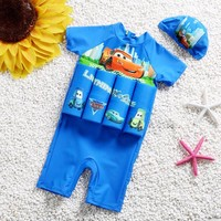 Children Float Swimsuit One Piece Buofancy Swimwear Detachable Kids Swimming Suit Protective Lesson Swimming Suit Bathing Suit