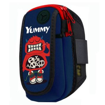 Waterproof Outdoor Sports Armband Cellphone Bag-Red Monster Printing