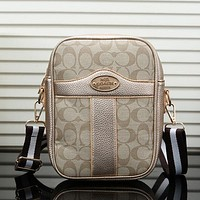 Coach Woman Men Fashion Leather Crossbody Satchel Shoulder Bag