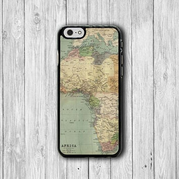 Vintage Africa Map locating Countries iPhone 6 Cover, iPhone 6 Plus, iPhone 5 / 5S iPhone 5C Cases iPhone 4/4S Accessory Vintage Boss Gift
