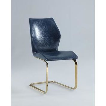 Chintaly Nicole Ergonomic Design Cantilever Side Chair In Blue