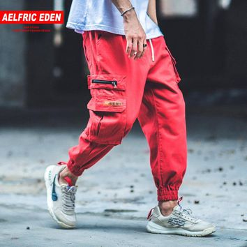 Aelfric Eden Man Jogger Camouflage Side Pockets Loose Style Men's Sweatpants Fashion 2018 High Street Casual Pants 4 Colors B040