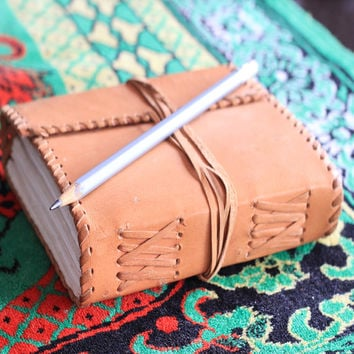 Leather Journal - Leather Diary - Handmade Leather Journal - Scrapbook - Guestbook - Diary - Leather Notebook