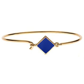 hingebrn - Hinged Wire Bracelet with Navy Clasp