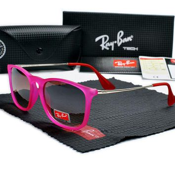 Rayban-T626 Rose red Frame brown Lens Sunglasses