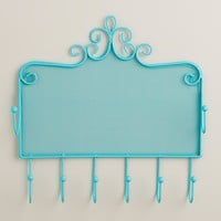 Turquoise Wall Jewelry Holder with Hooks - World Market