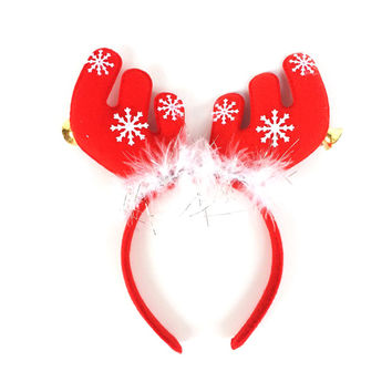 Christmas Decorations Christmas Ears with Bells Headband Head Buckle Holiday Dress Props Antlers Head Buckle B816