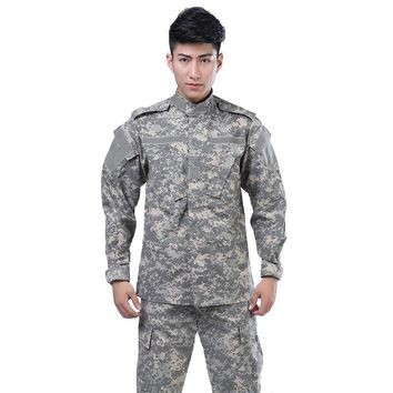 Tactical Uniform Suit Military Combat Pants+jacket Army Special Forces Camouflage Train Airsoft Paintball Suit Hunt Clothes