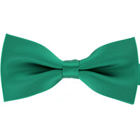 Tok Tok Designs Pre-Tied Bow Tie for Men & Teenagers (B12, Satin Green)