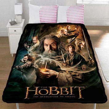 The Hobbit The Desolation of Smaug Bilbo Gandalf Bard Collection Gift Throw Fleece Blanket M, L, XL - 001