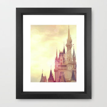 Cinderella Castle Framed Art Print by AndreaClare