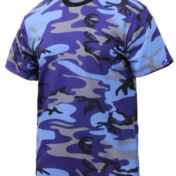 Rothco Colored Electric Blue Camo T-Shirts