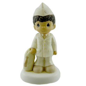 Precious Moments BLESS THOSE WHO SERVE THEIR COUNTRY Porcelain Military 527297